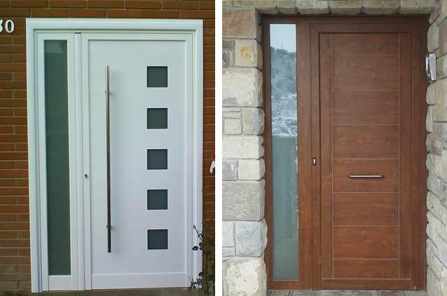 Puertas de entrada de aluminio modernas puerta principal for Puertas de aluminio modernas